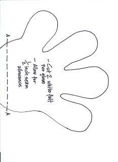 Molde Mão Mickey 02