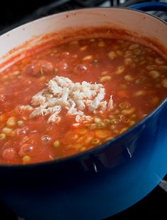 Maryland Crab Soup - add 1/2 cup V8 low sodium & 1/4 to 1/2 tsp. of cayenne pepper. Canned mix vegetable work very well!