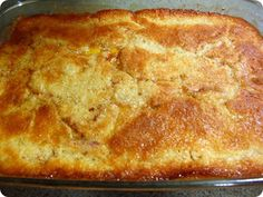 The Very Best Peach Cobbler, with vanilla ice cream of course!