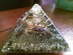 Resin paperweight - Made with pyramid mold 785