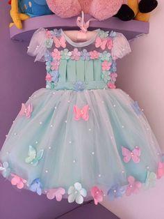 Baby Birthday Themes, Butterfly Birthday Party, Girl Birthday Decorations, Flamingo Birthday, Baby Girl Party Dresses, Dresses Kids Girl, Flower Girl Dresses, Kids Dress Patterns, Kids Frocks Design