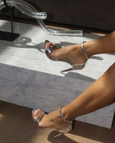 Ali - Silver – Shoes by Alexandria Brandao Womens Silver Heels, Womens High Heels, Silver Shoes, Beautiful High Heels, Gorgeous Feet, Strappy Heels, Stiletto Heels, Talons Sexy, Very High Heels