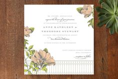 Flore Wedding Invitations by Dauphine Press at minted.com