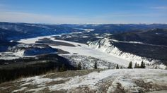 The view of Dawson City and the Klondike and Yukon Rivers as seen from the Dome!