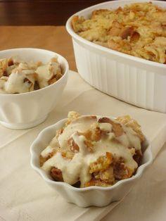 Apple Pie Bread Pudding... so good! Add some pecans for added flavor. Serve warm topped with ice cream or whipped cream.
