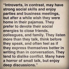 Introverts- I wish people understood this