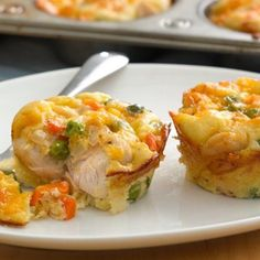Impossibly Easy Mini Chicken Pot Pies - perfect for kiddos!