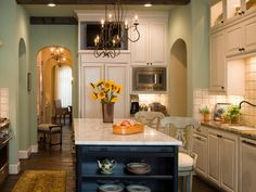 elegant-green-kitchen