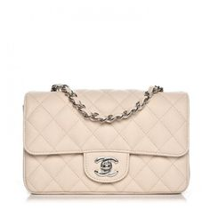 c124be540c35 CHANEL Caviar Quilted Mini Rectangular Flap Light Beige ❤ liked on Polyvore  featuring bags, handbags, shoulder bags, leather shoulder handbags, ...