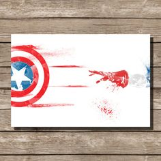 movie poster art print Captain America comic book art fan art on Etsy, $15.00
