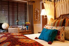 Colorful Ranch eclectique-chambre