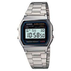 $16  Men's Casio Digital Bracelet Watch - Silver (A158W-1)