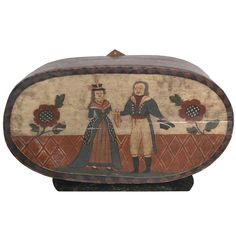 18th Century Painted Wooden Hat Box   From a unique collection of antique and modern more folk art at http://www.1stdibs.com/furniture/folk-art/more-folk-art/
