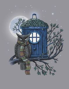doctor hoot (doctor who!an owl and a pun haha Doctor Who, The New Doctor, 4th Doctor, Dr Who, Serie Doctor, Terry Fan, Fan Art, Geronimo, Illustrations