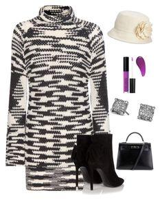 """Sweater Dress"" by kotnourka ❤ liked on Polyvore featuring Missoni, Yves Saint Laurent, David Yurman, Hermès and Nine West"