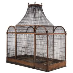 Late 19th Century Birdcage | From a unique collection of antique and modern bird cages at http://www.1stdibs.com/furniture/more-furniture-collectibles/bird-cages/