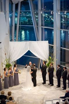 Wedding at the Hunter Museum of American Art in Chattanooga, TN. Photo by Dotson Studios. Event planning by Soirées of Chattanooga.