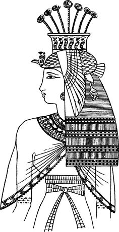 Pharaoh headdress template and several other Egyptian