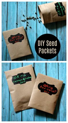 Make these easy DIY seed packets to organize and label your seeds for next planting season!  AD