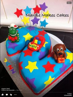 The Wiggles Cake Wiggles Birthday, Wiggles Party, Leo Birthday, Second Birthday Ideas, 2 Birthday Cake, 2nd Birthday Parties, Number 1 Birthday Cake Boy, Wiggles Cake, The Wiggles
