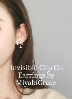 ✨Clear clip on earrings are totally pierced look and comfortable! These are 8 hours wearable clip on earrings! Available at MiyabiGrace. #etsy #jewelry #earrings #RhinestoneClipOnEarrings #minimalist #nonpierced #nopiercing #Accessories #metalallergy #cliponearrings #clipearrings #invisiblecliponearrings #metalfreeearrings #hypoallergenic #pretty #cliponstudearrings #comfortablecliponearrings #fashion #style #MiyabiGrace #omegaearrings #bridalclipearrings #prom #ribbonearrings #ribbon Clip On Earrings, Pearl Earrings, White Bow Tie, Ear Piercings, Crystal Rhinestone, Ribbon, 8 Hours, Etsy Jewelry, Crystals