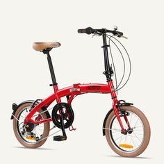 "TOKYO Citizen Bike 16"" 6-speed Folding Bike with Ultra-Portable Frame"