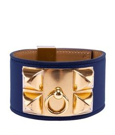 Hermes Blue Leather Collier De Chien Bracelet w/ Gold-Tone HW & Box, Sz L (24473). Get the lowest price on Hermes Blue Leather Collier De Chien Bracelet w/ Gold-Tone HW & Box, Sz L (24473) and other fabulous designer clothing and accessories! Shop Tradesy now