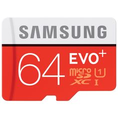 Get great versatility with the Samsung EVO+ 64GB microSD card. It's ideal for use with action cams and mobile devices. Read speed of 80MBps and write speed of 20MBps offer fast file transfers and quick loading for apps. It is wate... Free shipping on orders over $20.
