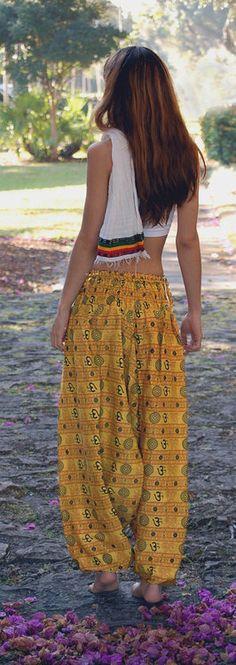 Diggin' these classic harem OM print pants.