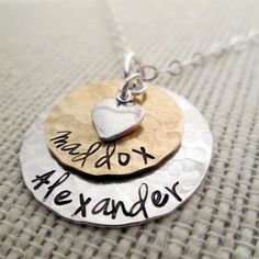 Layered Love  Mom Necklace - hand stamped necklace - personalized necklace - mothers necklace by JLynnCreations on Etsy https://www.etsy.com/listing/62749082/layered-love-mom-necklace-hand-stamped
