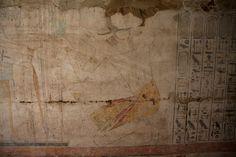 Osireón de Abidos , Libro de las puertas : ( Osireion ; Osirion ; Abydos ): Merenptah ofrece Maat a Horus y Osiris | por Soloegipto
