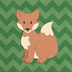 """Expertly designed, the canvas and poster wall art in this Cartoon Animal Wall Art collection are as adorable as they are long-lasting. """"Fox - Woodland Creatures"""" canvas and poster print wall art by Circle Kids, check it out at CanvasOnDemand.com."""