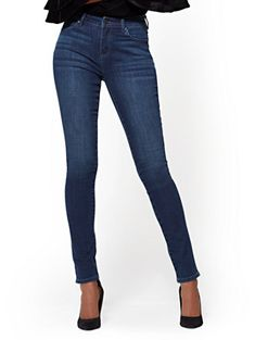 a11e95b38f44e6 Shop Soho Jeans - High-Waist Skinny - Endless Blue Wash - Tall. Find your  perfect size online at the best price at New York & Company.