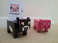 Minecraft Animal themed Raspberry Pi cases