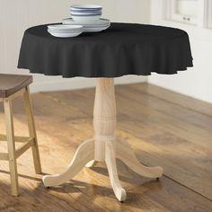 "Wayfair Basics™ Wayfair Basics Polyester Round Tablecloth Size: 58"" Round, Color: Black"