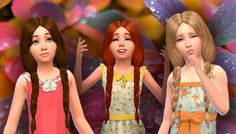 Mystufforigin: Braiding Hair for Girls for Sims 4