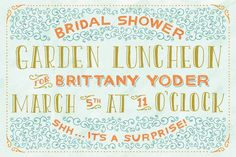 Garden Luncheon Invite by Mary Kate McDevitt, via Behance