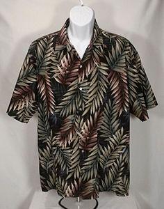 e7a2bd08 Tori Richard Honolulu Hawaiian Shirt Coconut Button Mens Size XL blk Palm  Leaves #ToriRichard #Hawaiian