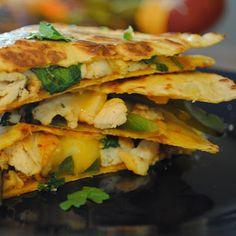 Homemade By Holman: Chicken Fajita Quesadillas