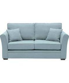 Kasey Large Sofa - Sky Blue.