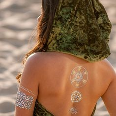 Back Tattoo // Matallic Tattoo // Festival Style //  from our SACRED SHAPES COLLECTION