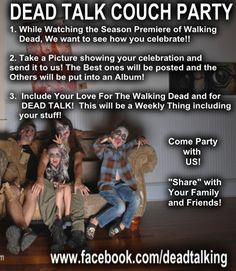 COUCH PARTY for The Walking Dead?  Nice...