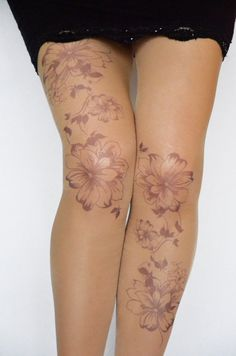 Tattoo Tights With Flowers Print, Handprinted Womens Pantyhose,Trendy Tattoo Tights - Ankle Tattoo Designs Maori Tattoos, Maori Tattoo Designs, Marquesan Tattoos, Foot Tattoos, Flower Tattoos, Body Art Tattoos, Sleeve Tattoos, Filipino Tattoos, Ribbon Tattoos