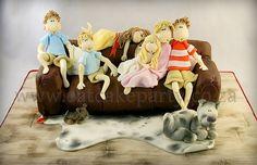 Tobie's couch cake by ♥Dot Klerck....♥, via Flickr