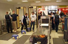 airport security checkpoint  (specifics on TSA rules for carry ons)