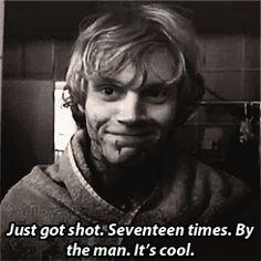Got shot 17 times, It's cool hahahahaha