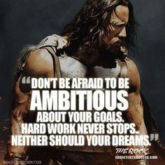 Dwayne Johnson Quote http://addicted2success.com/quotes/24-dwayne-johnson-motivational-picture-quotes/