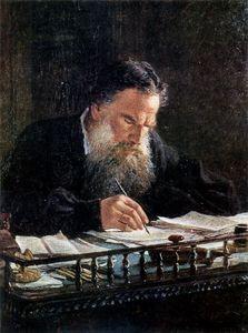 Nikolai Ge - porträt von `leo` tolstoi