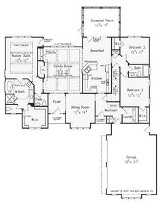 **Really like this one! The Colemans Bluff House Plans First Floor Plan - House Plans by Designs Direct.