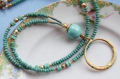 Turquoise Lanyard Eyeglass Lanyard Eyeglass Loop by Maetri on Etsy, $30.00